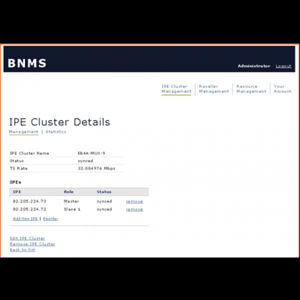 MD-5601-BNMS-IPE-Cluster setup